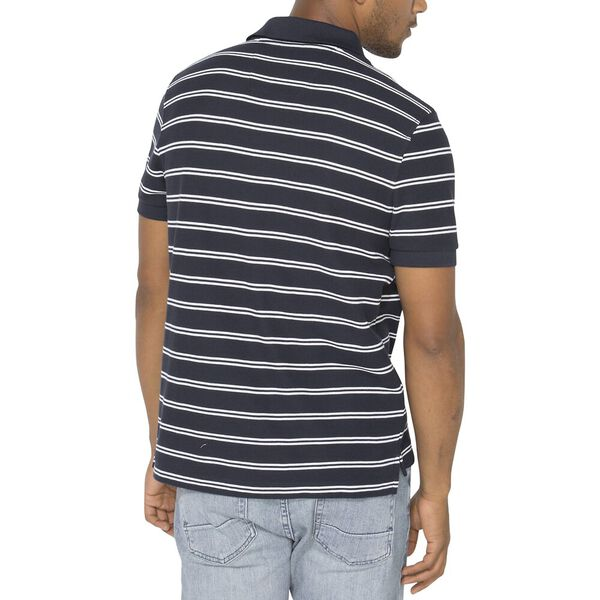 Performance Classic Fit Stripe Deck Polo, Navy, hi-res