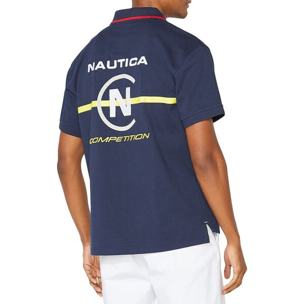 Nautica Competition Take It Back Polo, Navy, hi-res