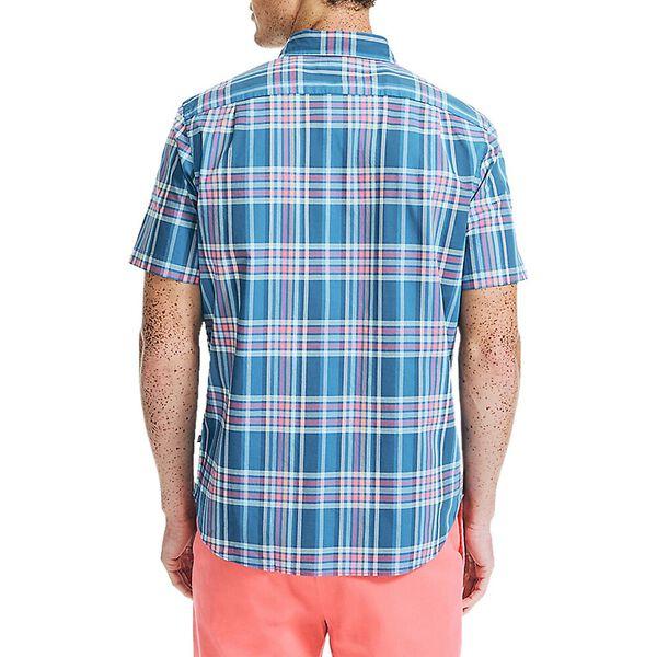 Classic Fit Navtech Multi Check Short Sleeve Shirt, Windsurf Blue, hi-res