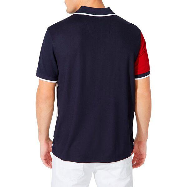 Classic Fit Diagonal Colourblock Polo, Navy, hi-res