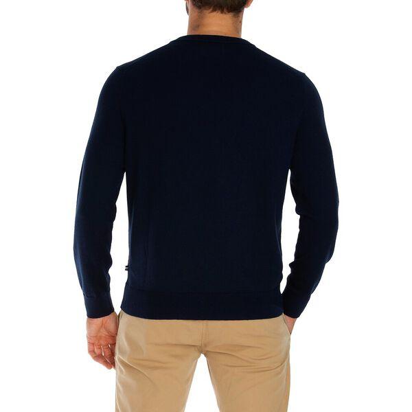 Big & Tall Navtech V Neck Sweater, True Black, hi-res
