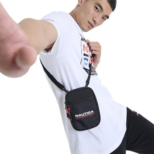Nautica Competition Strake Cross Body Bag, Black, hi-res