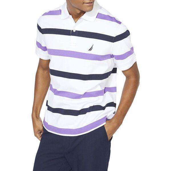Classic Fit Premium Cotton Stripe Polo, Ocean Violet, hi-res