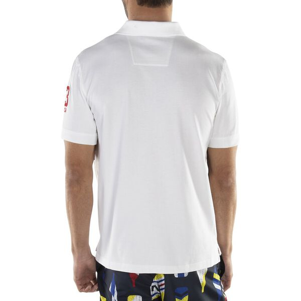 CLASSIC FIT FLAG POLO, BRIGHT WHITE, hi-res
