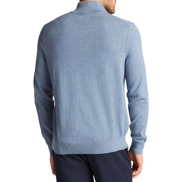 Big & Tall Quarter Navtech Sweater, Deep Anchor Heather, hi-res