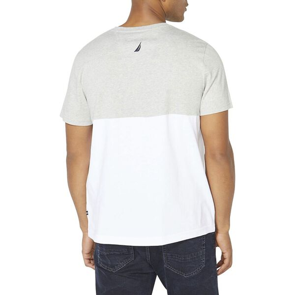 Embroidered Flags Tee, Grey Heather, hi-res