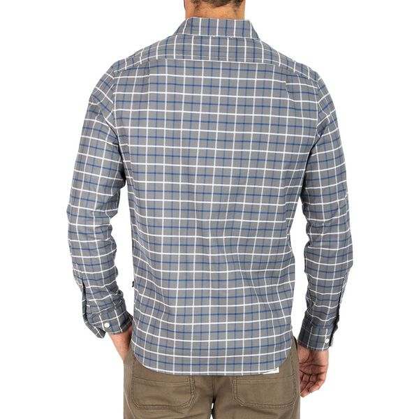 Navtech Oxford Plaid Shirt, Pewter Grey, hi-res
