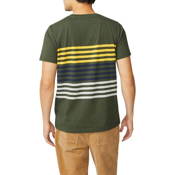 Refreshed Stripe Tee, Forest Night, hi-res