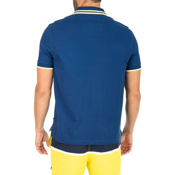 Classic Fit Navtech Tip The Cuff Polo, Estate Blue, hi-res