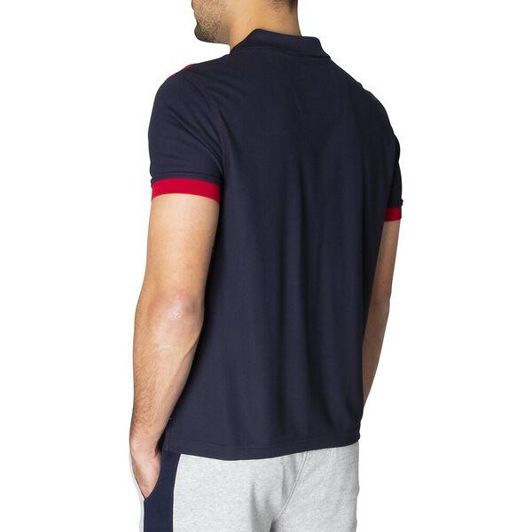 Navtech Slim Fit Check Play Polo, Navy, hi-res