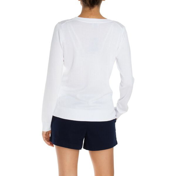 Cotton Crewneck Sweater, Bright White, hi-res