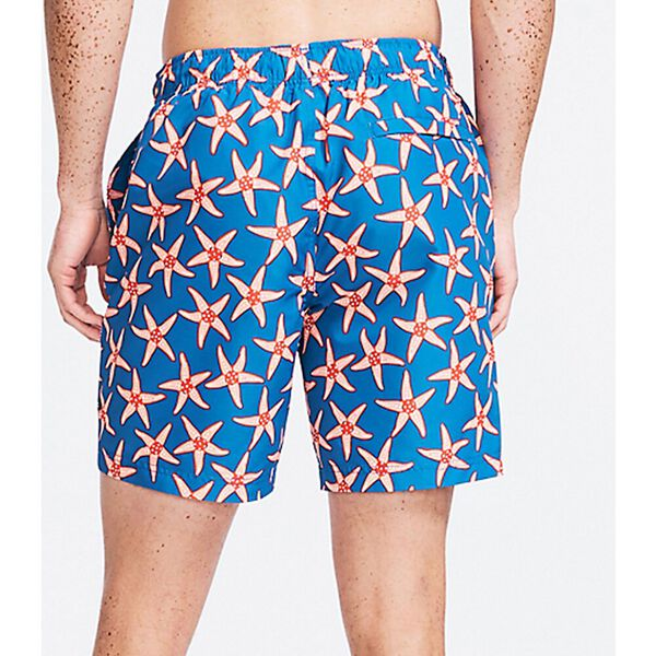 """Sustainably Crafted Starred 8"""" Swim Shorts, Deep Dive, hi-res"""