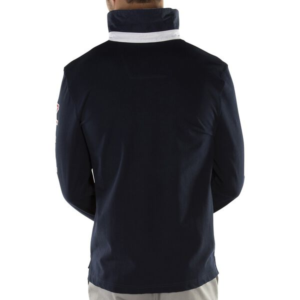 NAUTICA LOGO LONG SLEEVE RUGBY POLO SHIRT, Navy, hi-res