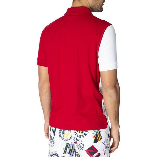J. Class Bold Colourblock Polo, Naut Red, hi-res