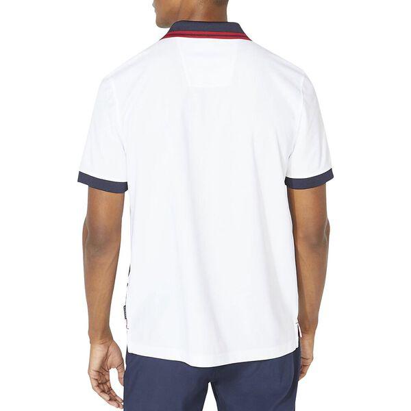 Classic Fit Diagonal Block Polo, Bright White, hi-res