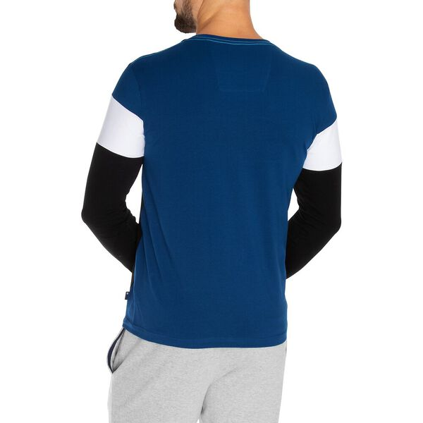 Nautica Competition Tri-Colour Panelled Long Sleeve Tee, True Black, hi-res