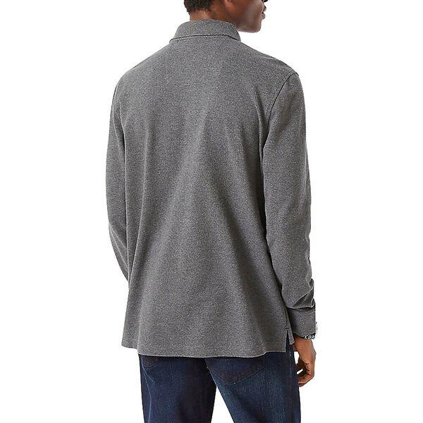 J. Class Long Sleeve Polo, Charcoal Heather, hi-res