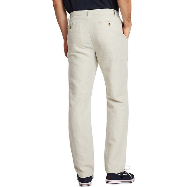 New Classic Cotton Linen Chino Pants, Wheat Flax, hi-res