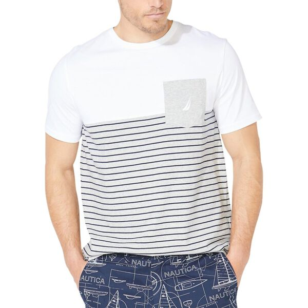 Colourblock Stripe Pocket Tee