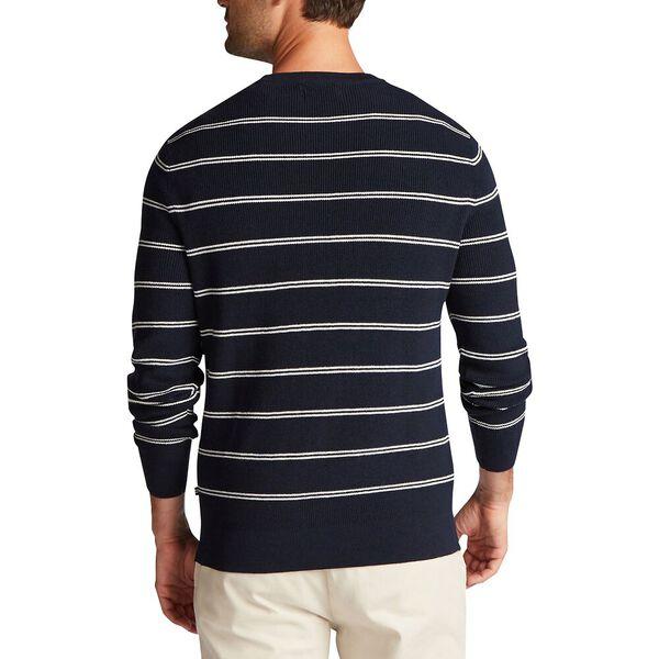 Double Stripe Crewneck Navtech Sweater, Navy, hi-res