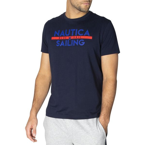 The Blue Sail Club Short Sleeve Tee, Navy, hi-res