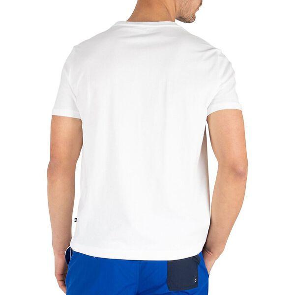 Outline Logo Tee, Bright White, hi-res