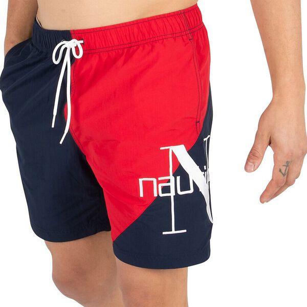 "Nautica Reissue Statement 8"" Swim Shorts, Navy, hi-res"