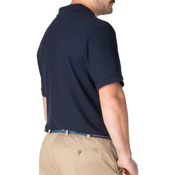 Big & Tall Short Sleeve Deck Polo, Navy, hi-res