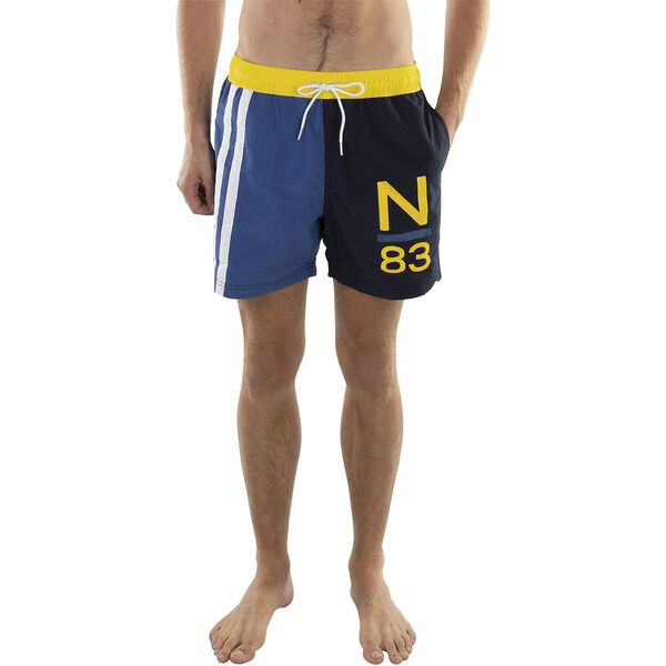 "16"" RACER STRIPE COLORBLOCK SWIM TRUNK"