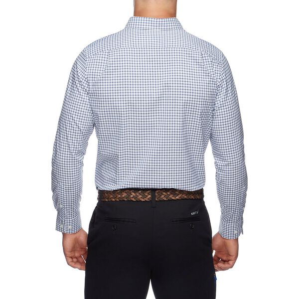 WRINKLE REISISTANT MICRO PLAID LONG SLEEVE SHIRT, BRIGHT WHITE, hi-res