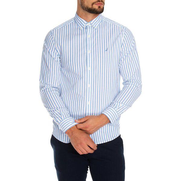 Navtech Stripe Long Sleeve Shirt, Bright White, hi-res