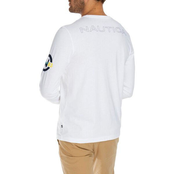 Nautica Competition Long Sleeve Tee, Bright White, hi-res