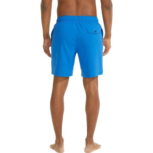 """Sustainably Crafted Dual Band 8"""" Swim Shorts, Spinnaker Blue, hi-res"""