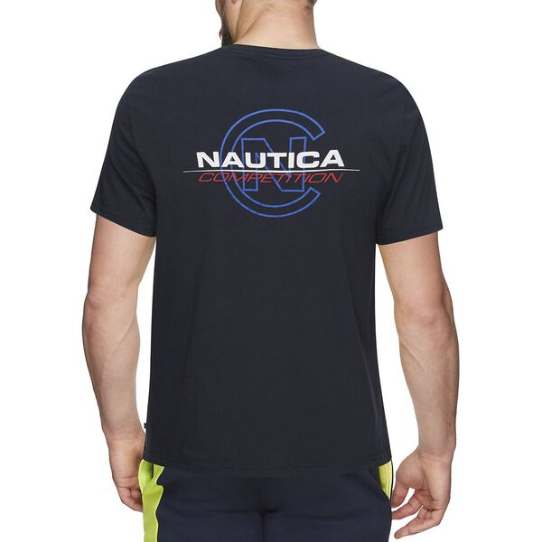 NAUTICA COMPETITION C BACK LOGO TEE, NAVY, hi-res