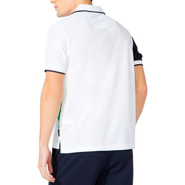 Classic Fit Diagonal Colourblock Polo, Bright White, hi-res