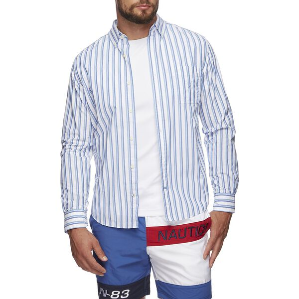 BLUE SAIL STRIPE SHIRT, SILVER LAKE BLUE, hi-res