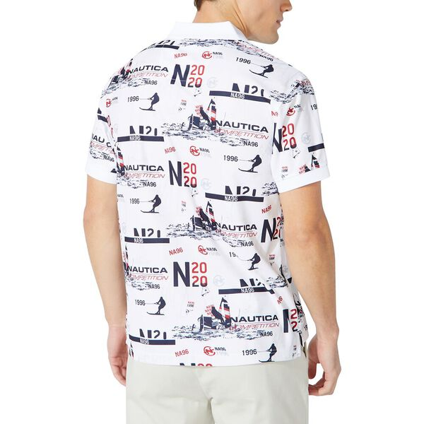 Competition All Over Print Polo, Bright White, hi-res