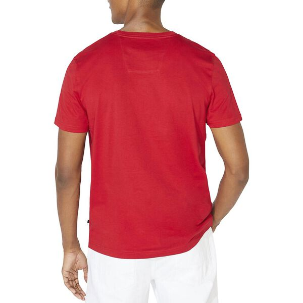 Block In Short Sleeve Tee, Naut Red, hi-res