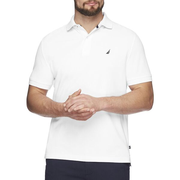 SHORT SLEEVE SOLID POLO, BRIGHT WHITE, hi-res