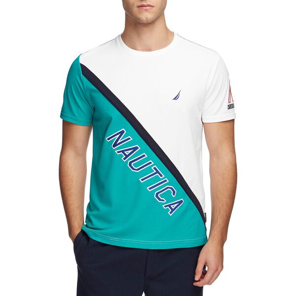 BLUE SAIL HYRDO RACE MESH UP TEE, Bright White, hi-res