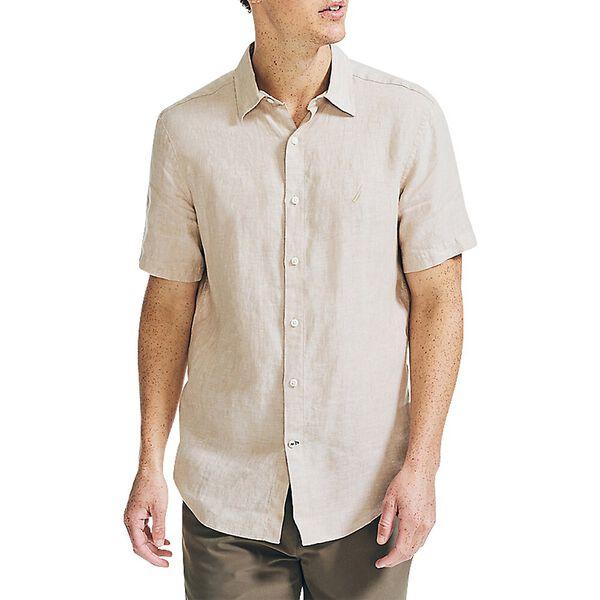 Classic Fit Linen Shirt, Sandy Bar, hi-res