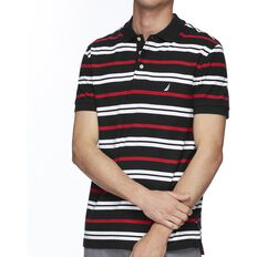 SHORT SEEEVE MULTI-STRIPE POLO