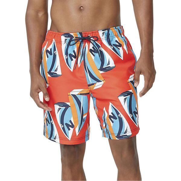 Sailboat Paint Swim Shorts, Orange Poppy, hi-res