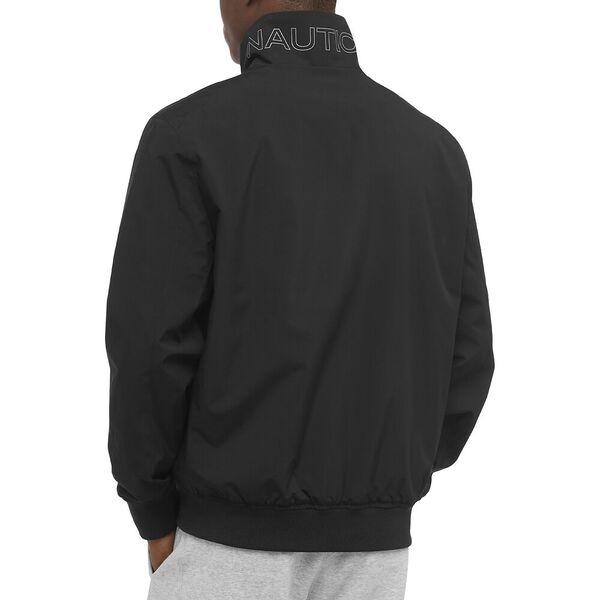 Rainbreaker Anchor Bomber Jacket, True Black, hi-res