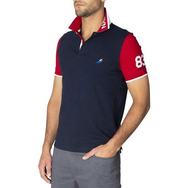 Pop Your Collar Contrast Polo, Navy, hi-res