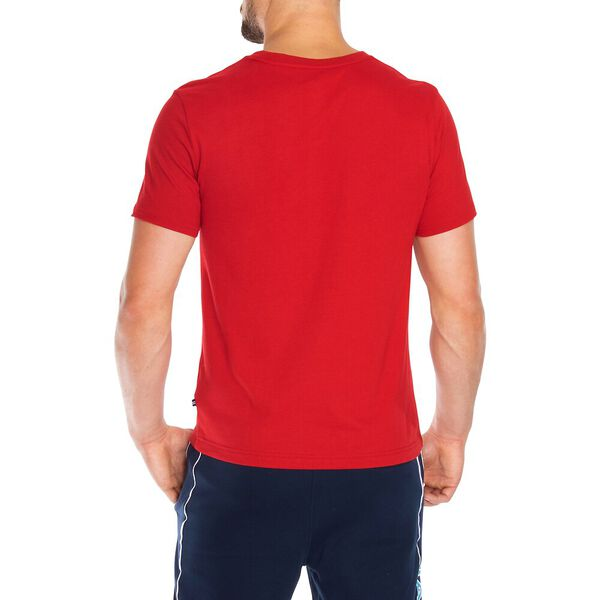 Nautica Jeans Co. Chest Stripe Logo Graphic Tee, Nautica Red, hi-res