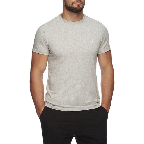 Short Sleeve Anchor Logo Tee, Grey Heather, hi-res