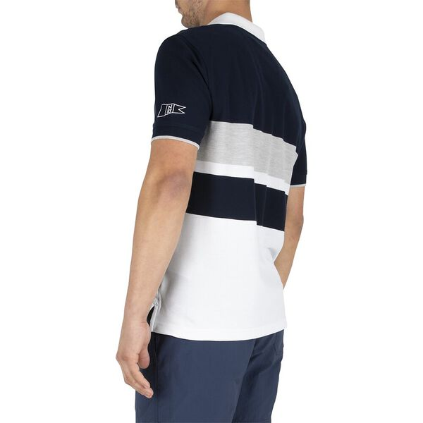 Sustainably Crafted Navtech Blocked Polo, Navy, hi-res