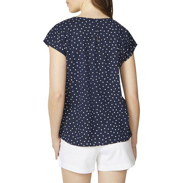 Dolman Radical Polka Dot Print Shirt, Navy, hi-res