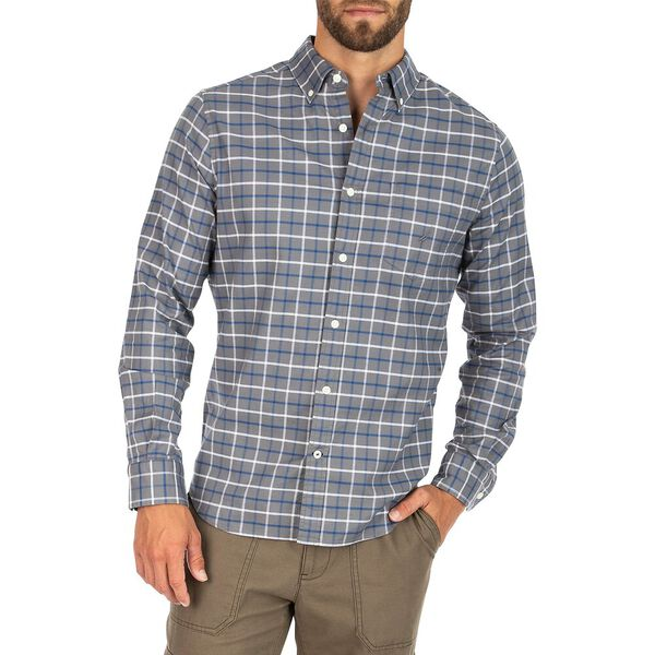 Navtech Oxford Plaid Shirt, Pewter Grey, hi-res